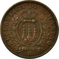 Monnaie, San Marino, 5 Centesimi, 1936, Rome, SUP+, Bronze, KM:12 - Saint-Marin