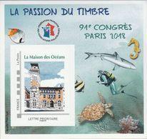 FFAP N° 14 De 2018 - Bloc Dentelé Autoadhésif - La Passion Du Timbre - Paris - La Maison Des Océans - FFAP