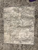 CARTE ETAT MAJOR ENTOILEE MEAUX LIZY SUR OURCQ CRECY EN BRIE COULOMMIERS MAY EN MULTIEN OISSERY VAUCOURTOIS VARREDDES - Cartes Topographiques