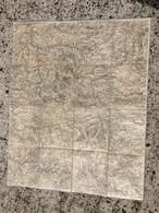 CARTE ETAT MAJOR ENTOILEE SAINT JUST EN CHEVALET RENAISON SAINT MARTIN D ESTREAUX ARFEUILLES LA PALISSE CHATELUS - Cartes Topographiques