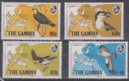 GAMBIA - 1983 Birds And Maps. Scott 485-488. MNH ** - Gambia (1965-...)