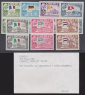 LIBERIA - 1958 Flag And President Truman IMPERF Pairs. Scott 368-370, C114-117. Superb MNH ** - Liberia