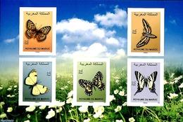 Morocco 2019 Butterflies 5v S-a S/s, (Mint NH), Butterflies - Marocco (1956-...)