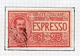 Italie - Italy - Italien Poste Exprès 1903 Y&T N°LE1 - Michel N°85 (o) - 25c Victor Emmanuel III - 1900-44 Victor Emmanuel III.
