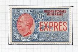 Italie - Italy - Italien Poste Exprès 1908 Y&T N°LE2 - Michel N°93 * - 30c Victor Emmanuel III - 1900-44 Victor Emmanuel III.