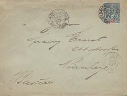 French Colonies: Indo-chine: 1897: Saigon To Nürnberg - Indochina (1889-1945)
