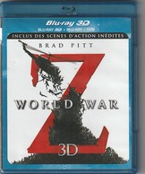 DVD BLU RAY  3D  3 Dvd WORLD WAR Z  Avec BRAD PITT   Etat: TTB Port 140 Gr - Horreur