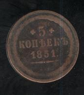 5 Kopecks Russie 1851 - Russland
