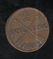 1/2 Skilling  Suède 1807 TTB++ - Suède