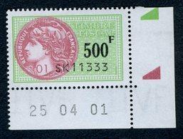 9 Timbres Fiscaux (fiscal) De La Série Fiscale Unifiée) N° 502,503,504,505,507,508,509,510 Et 511 Neuf - Coins Datés - Fiscaux