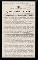 Slijpe, Slype, 1928, Juliana Mus, Casteleyn, Lefevere - Devotieprenten