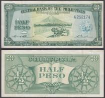 Philippines 1/2 Peso 1949 (VF) Condition Banknote P-132 - Filippine