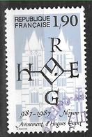 FRANCE 2478 Millénaire De L'avènement D'Hugues Capet Sceau Et Cathédrale De Noyon. - France