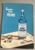 VODKA WYBOROWA GENUINE FROM POLLAND    (63) - Pubblicitari