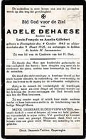 Reningelst, 1926, Adele Dehaese, Gillebert - Devotieprenten