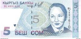 Kyrgyzstan - Pick 13 - 5 Som 1997 - Unc - Kyrgyzstan
