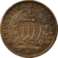 Monnaie, San Marino, 10 Centesimi, 1935, Rome, SUP+, Bronze, KM:13 - Saint-Marin