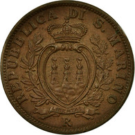Monnaie, San Marino, 10 Centesimi, 1938, Rome, TTB+, Bronze, KM:13 - Saint-Marin