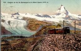 CPA Chemin De Fer Du Gornergrat Et Le Mont Cervin - Ferrovie