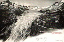 CPA Rhonegletscher Und Furkastrasse - VS Valais