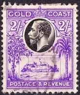 GOLD COAST 1928 KGV 2 Shillings Black & Bright Violet SG111 Used - Costa D'Oro (...-1957)