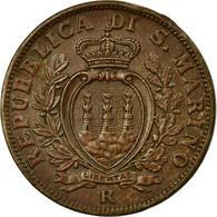 Monnaie, San Marino, 10 Centesimi, 1938, Rome, SUP, Bronze, KM:13 - San Marino