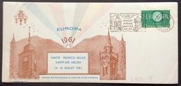 D333-1 Vosges Flamme «Jumelage Saint-Dié Arlon 15 Juillet» Europa 1266 Amitié Franco-Belge - Postmark Collection (Covers)
