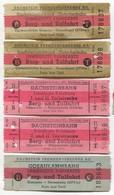 Gletscher Bahn / Glacier Railway - Vintage Traveled Ticket Austria. Lot 10 Pcs - Transportation Tickets