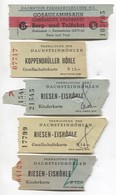 Gletscher Bahn / Glacier Railway - Vintage Traveled Ticket Austria. Lot 9 Pcs - Transportation Tickets