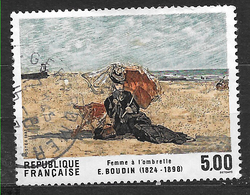 FRANCE 2474  Femme à L'ombrelle Tableau D'Eugène Boudin  . - France