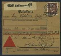 Paketkarte 1934 HALLE Siehe Beschreibung (115231) - Deutschland