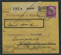 Paketkarte 1934 BITTERFELD Siehe Beschreibung (115276) - Deutschland