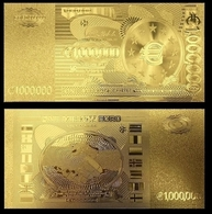 1 Billet Plaqué OR ( GOLD Plated Banknote ) - Europe 1 000 000 Euros ! One Million Euro ( A ) - Private Proofs / Unofficial