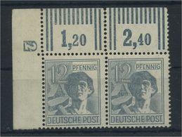 KONTROLLRAT 1947 Nr 947 Paar DZ 2 Postfr ME 60.- (91374) - Gemeinschaftsausgaben