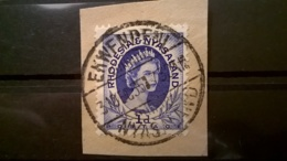 FRANCOBOLLI STAMPS RHODESIA NYASALAND 1954 USED SU FRAMMENTO REGINA ELISABETTA FRAGMENT - Rhodésie & Nyasaland (1954-1963)