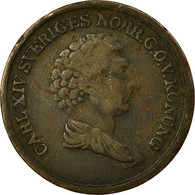 Monnaie, Suède, Carl XIV Johan, 2/3 Skilling, 1839, TB+, Cuivre, KM:641 - Suède