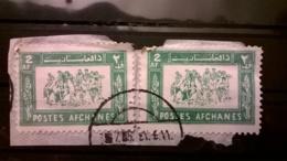 FRANCOBOLLI STAMPS AFGHANISTAN 1961 USED SU FRAMMENTO SERIE SPORT FRAGMENT - Afghanistan