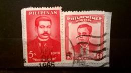 FRANCOBOLLI STAMPS FILIPPINE PILIPINA 1962 USED SU FRAMMENTO FAMOUS FILIPINOS PHILIPPINES FRAGMENT - Filippine