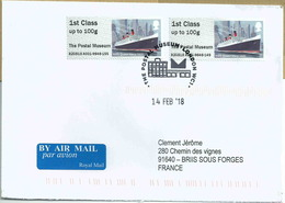 Vignette De Distributeur - ATM - IAR - Bateau RMS Queen Mary - FDC - Great Britain
