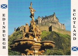 Scotland Edinburgh Ross Fountain To Princess Street Gardens Postcard Unused Good Condition - Midlothian/ Edinburgh