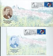 Théodore Gouvy Centenaire De La Mort Les 2 Enveloppes Officielles - Musica