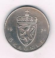 5 KRONER 1974 NOORWEGEN /3665/ - Norvège