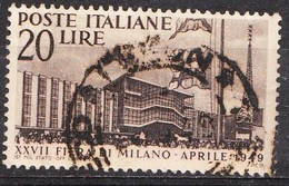 Italy 1949 Miland Trade Faire 20 L Brown Mi. 771 - 1946-.. Republiek