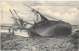 SAINT PALAIS SUR MER: LA GOELETTE ALINE DE PAIMPOL ECHOUEE SUR LES ROCHERS - Saint-Palais-sur-Mer