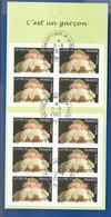 Carnet 10 Timbres C'est Un Garcon  N°BC 3805   Non Pliée  Oblitérés  Année 2005 - Other