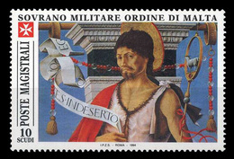 Ordre De Malte SMOM 0468 San Giovanni Battista , Peinture De Francesco Del Cossa - Malte (Ordre De)