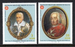Ordre De Malte SMOM 0569/70 Grands Maitres Fra Cardinal Portocarrero Et Bailli Rospigliosi , Mosaïques - Malte (Ordre De)