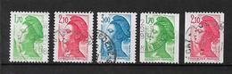 France Timbres De  1984 N°2318 A 2322  Oblitérés - France