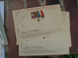 Modele B  Drapeaux Centre Carte Franchise Postale Militaire Guerre 14.18 - Marcophilie (Lettres)