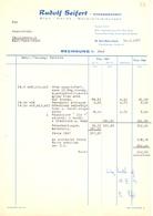 Factuur Facture - Rechnung - Rudolf Seifert - Karl Marx Stadt - 1977 - Allemagne